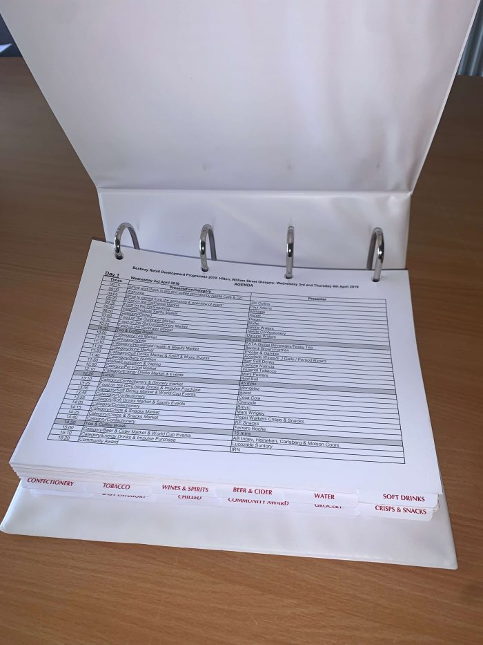 Ring Bound Documents